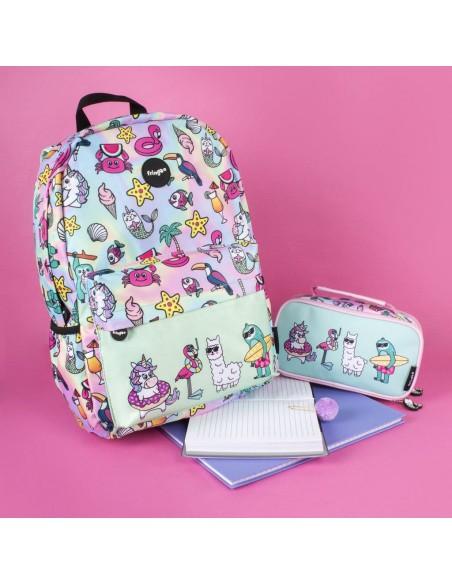 zaino impermeabile waterproof backpacks DREAM TEAM con tasca interna per computer portatile ipad e tablet ambientazione in rosa