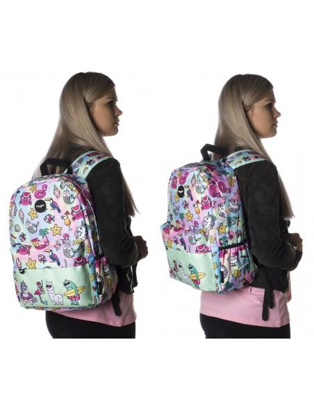 zaino impermeabile waterproof backpacks DREAM TEAM con tasca interna per computer portatile ipad e tablet in uso