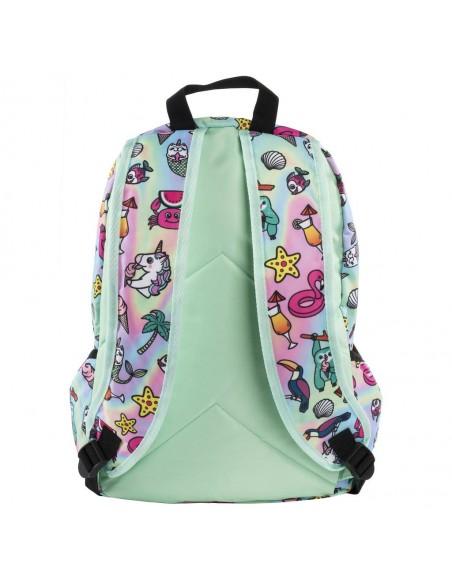 zaino impermeabile waterproof backpacks DREAM TEAM con tasca interna per computer portatile ipad e tablet vista sul retro