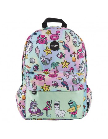 zaino impermeabile waterproof backpacks DREAM TEAM con tasca interna per computer portatile ipad e tablet vista frontale
