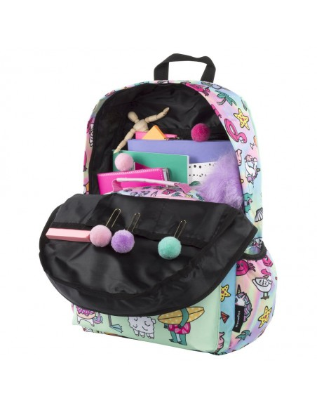 zaino impermeabile waterproof backpacks DREAM TEAM con tasca interna per computer portatile ipad e tablet vista interna