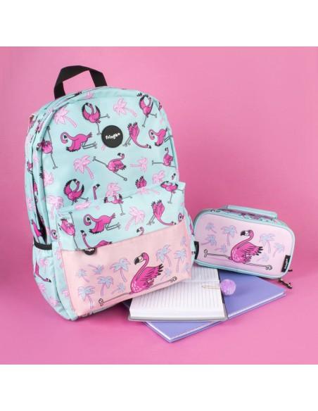 zaino impermeabile waterproof backpacks FLAMINGO con tasca interna per computer portatile ipad e tablet ambientazione in fucsia