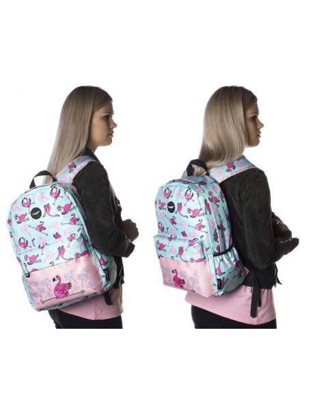 zaino impermeabile waterproof backpacks FLAMINGO con tasca interna per computer portatile ipad e tablet in uso