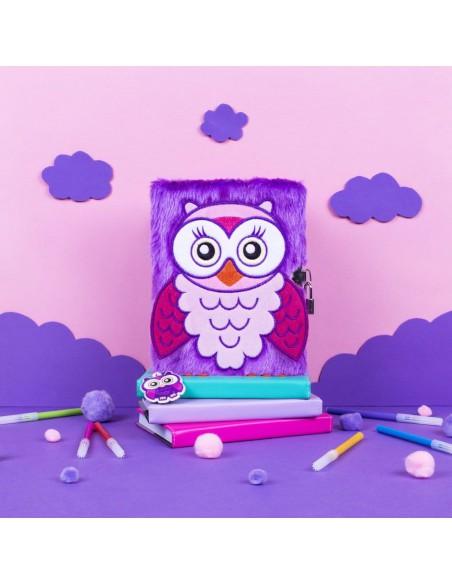 Diario segreto di peluche 3D OWL ambientazione in rosa