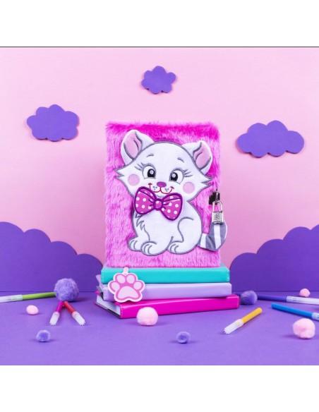 Diario segreto di peluche 3D PINK CAT ambientazione in rosa