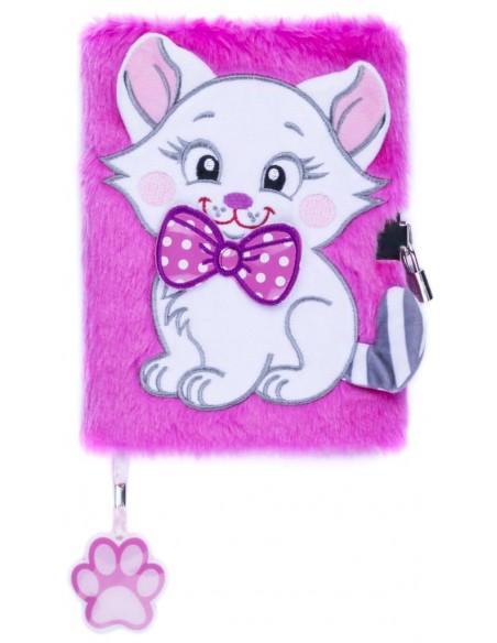 Diario segreto di peluche 3D PINK CAT copertina