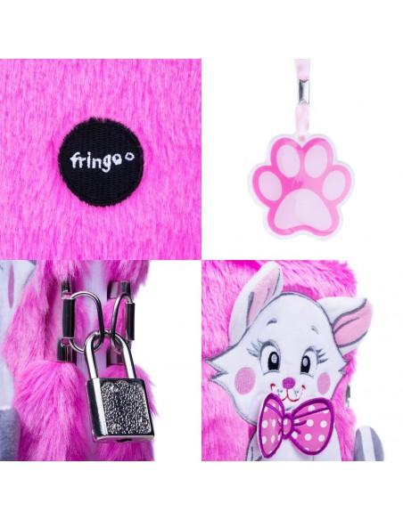Diario segreto di peluche 3D PINK CAT dettagli