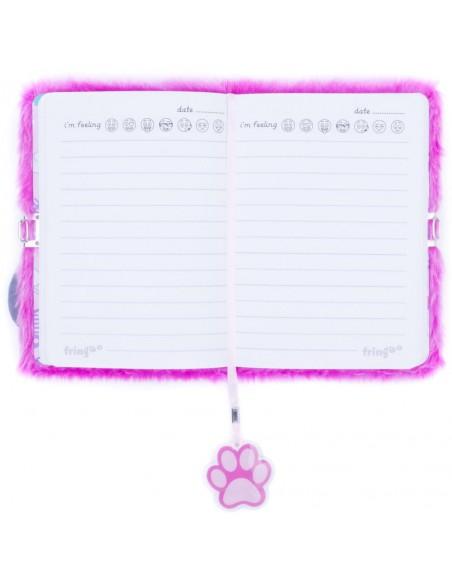 Diario segreto di peluche 3D PINK CAT pagina interna