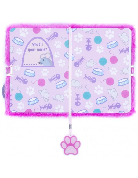 Diario segreto di peluche 3D PINK CAT prima pagina