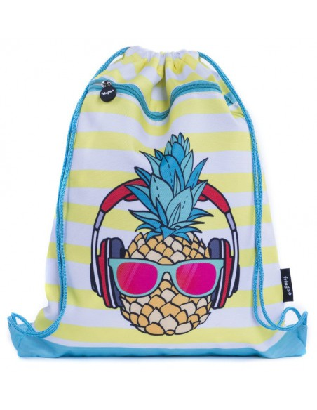 sacca con tasca frontale PINEAPPLE vista frontale