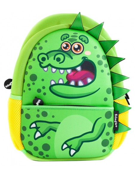 zainetto in neoprene GREEN DINO vista frontale
