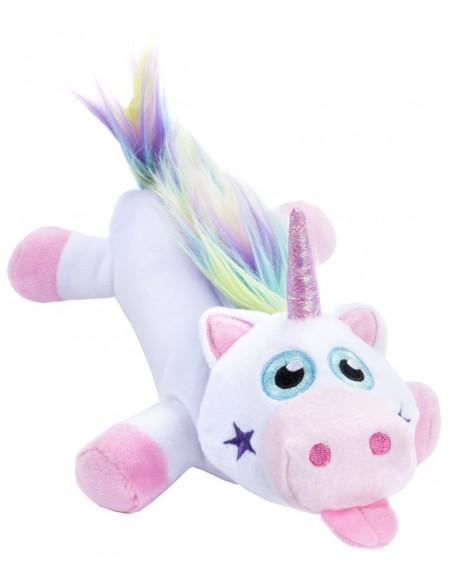 astuccio grande peluche unicorno RAINBOW UNICORN WHITE vista laterale