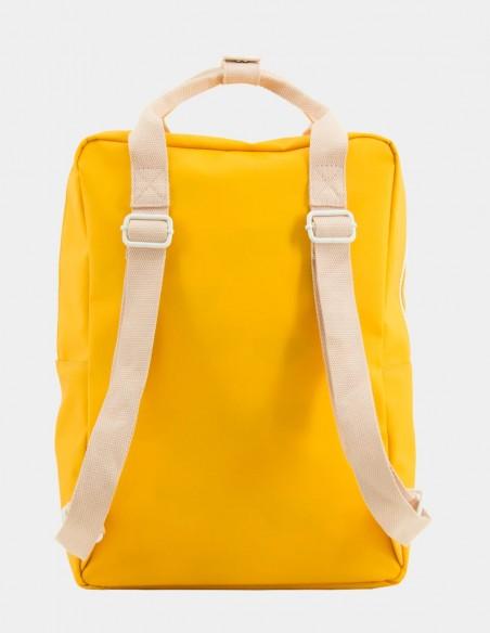 zaino sticky lemon con tasca busta da lettera large giallo caldo vista posteriore