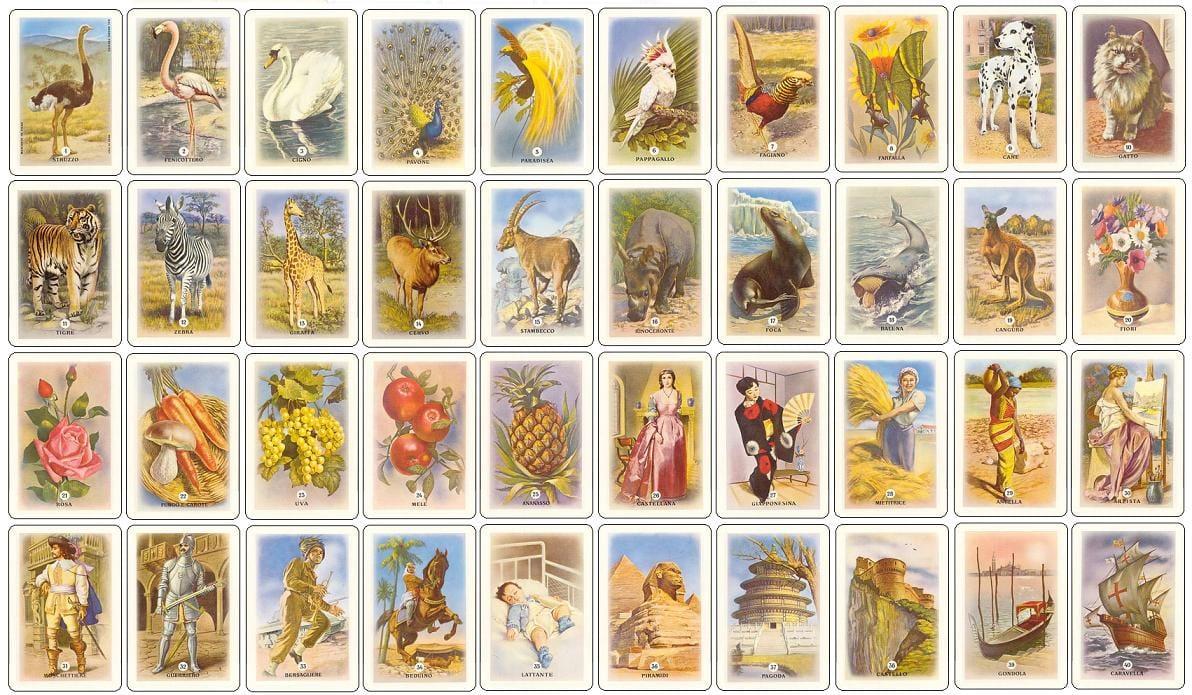 Carte da gioco Mercante in Fiera Dal Negro tutte le figure