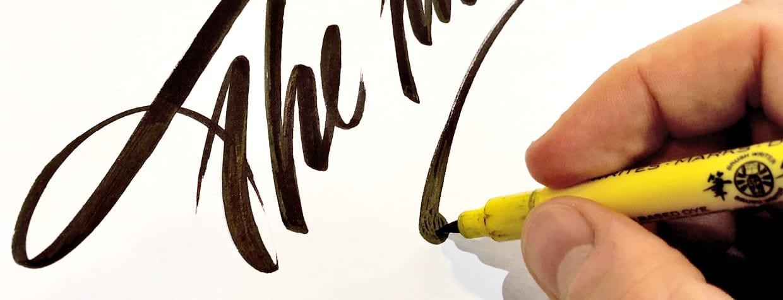 Colori a pennello Brush Writer Penco confezione 5 pezzi durante uso