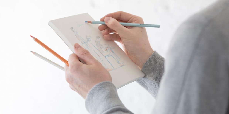matite colorate MD paper products confezione 6 pezzi in uso